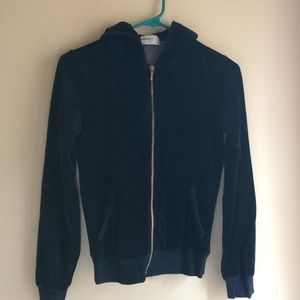 Allen Allen velvet navy sweat jacket